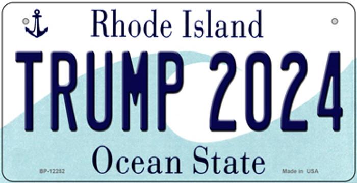 Trump 2024 Rhode Island Novelty Metal Bicycle Plate BP-12252