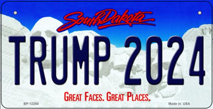 Trump 2024 South Dakota Novelty Metal Bicycle Plate BP-12254