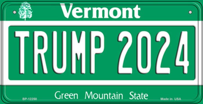 Trump 2024 Vermont Novelty Metal Bicycle Plate BP-12258