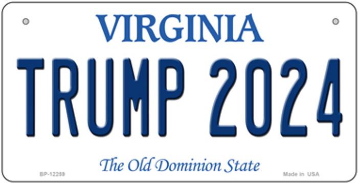 Trump 2024 Virginia Novelty Metal Bicycle Plate BP-12259