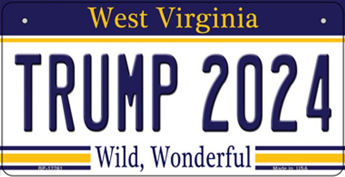 Trump 2024 West Virginia Novelty Metal Bicycle Plate BP-12261