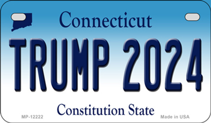 Trump 2024 Connecticut Novelty Metal Motorcycle Plate MP-12222