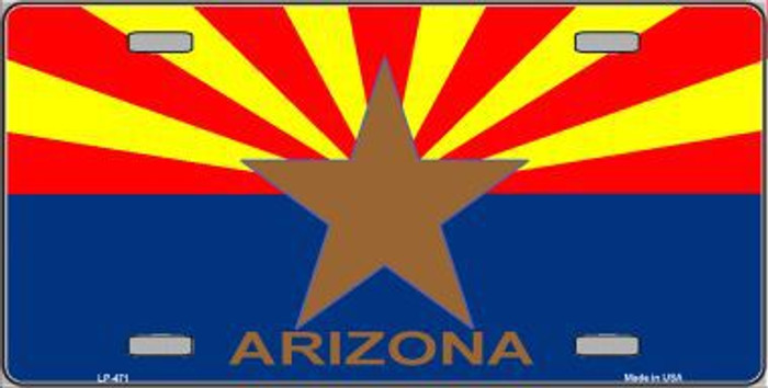 Arizona State Flag Metal Novelty License Plate LP-471