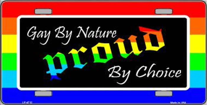 Gay By Nature Metal Novelty License Plate LP-4712