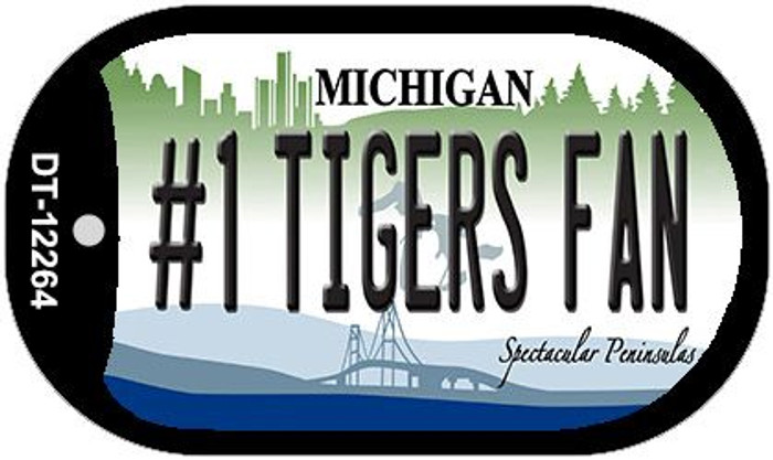 Number 1 Tigers Fan Michigan Novelty Metal Dog Tag Necklace DT-12264