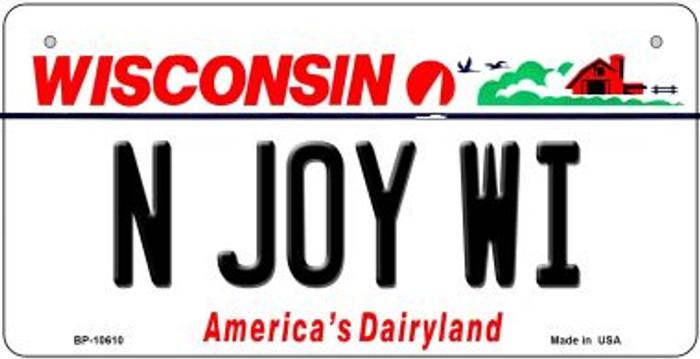 N Joy WI Wisconsin Novelty Metal Bicycle Plate BP-10610