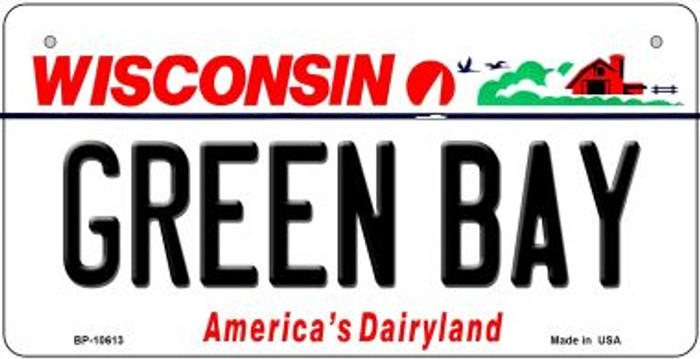 Green Bay Wisconsin Novelty Metal Bicycle Plate BP-10613