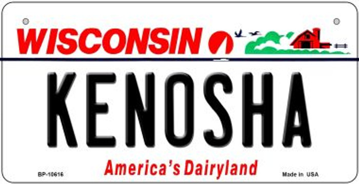 Kenosha Wisconsin Novelty Metal Bicycle Plate BP-10616