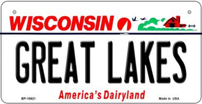 Great Lakes Wisconsin Novelty Metal Bicycle Plate BP-10621