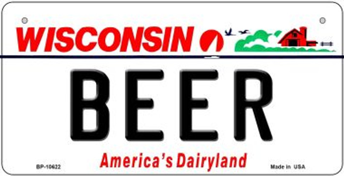 Beer Wisconsin Novelty Metal Bicycle Plate BP-10622