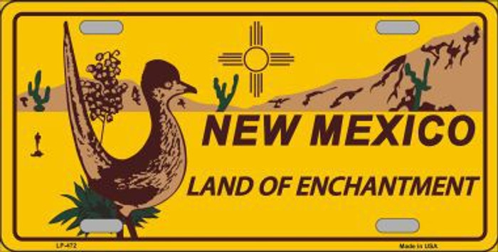 Roadrunner New Mexico Novelty Metal License Plate LP-472