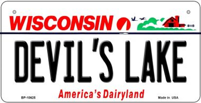 Devils Lake Wisconsin Novelty Metal Bicycle Plate BP-10625