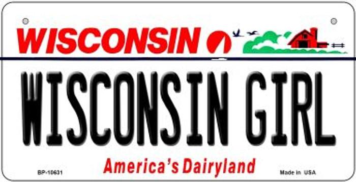 Wisconsin Girl Wisconsin Novelty Metal Bicycle Plate BP-10631