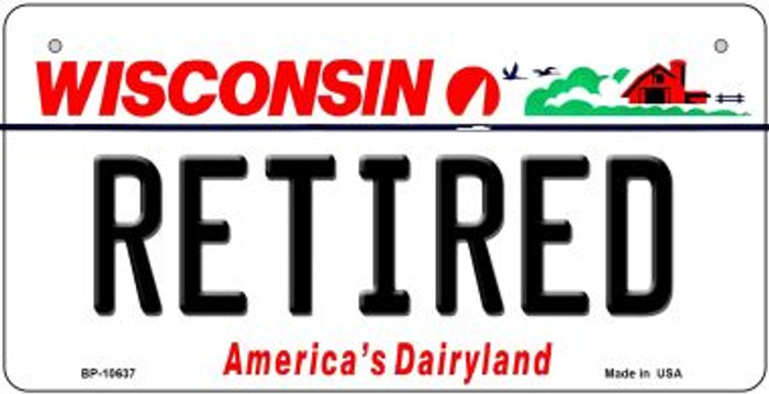 Retired Wisconsin Novelty Metal Bicycle Plate BP-10637
