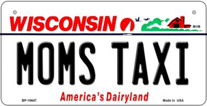 Moms Taxi Wisconsin Novelty Metal Bicycle Plate BP-10647