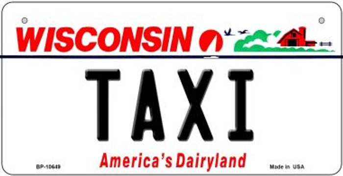Taxi Wisconsin Novelty Metal Bicycle Plate BP-10649
