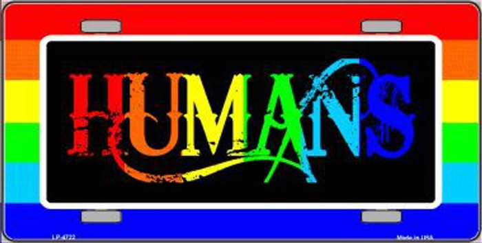 Humans Metal Novelty License Plate LP-4722