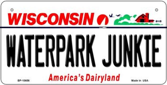 Waterpark Junkie Wisconsin Novelty Metal Bicycle Plate BP-10656