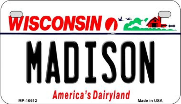 Madison Wisconsin Novelty Metal Motorcycle Plate MP-10612