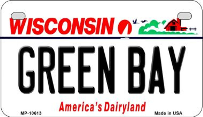 Green Bay Wisconsin Novelty Metal Motorcycle Plate MP-10613