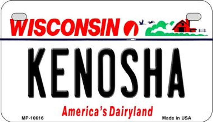 Kenosha Wisconsin Novelty Metal Motorcycle Plate MP-10616