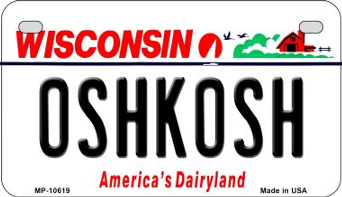 Oshkash Wisconsin Novelty Metal Motorcycle Plate MP-10619