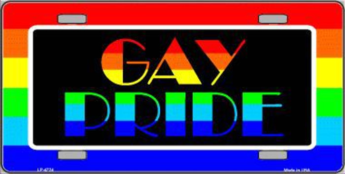 Gay Pride Metal Novelty License Plate LP-4724