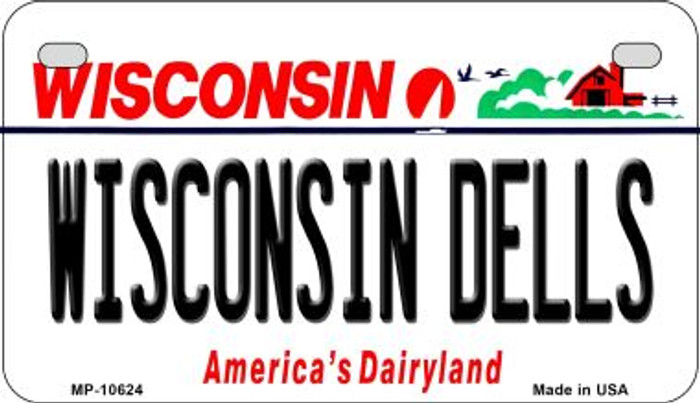 Wisconsin Dells Wisconsin Novelty Metal Motorcycle Plate MP-10624