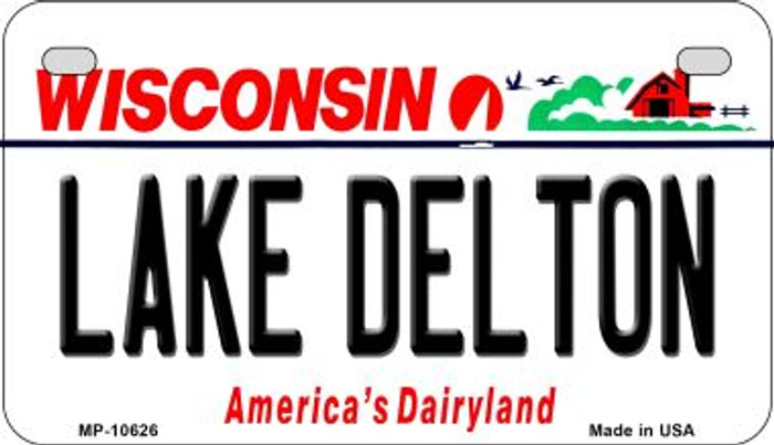 Lake Delton Wisconsin Novelty Metal Motorcycle Plate MP-10626