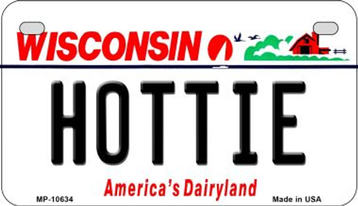 Hottie Wisconsin Novelty Metal Motorcycle Plate MP-10634