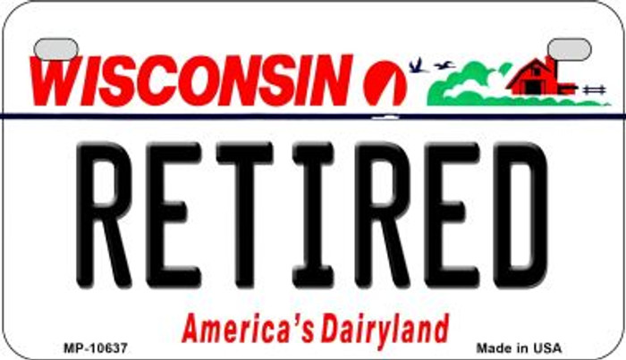 Retired Wisconsin Novelty Metal Motorcycle Plate MP-10637