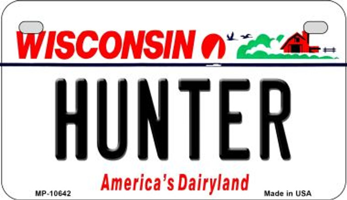Hunter Wisconsin Novelty Metal Motorcycle Plate MP-10642
