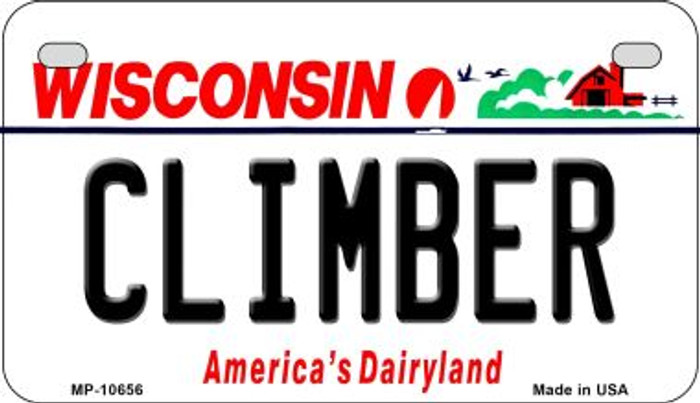Climber Wisconsin Novelty Metal Motorcycle Plate MP-10657