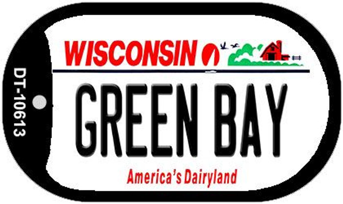Green Bay Wisconsin Novelty Metal Dog Tag Necklace DT-10613