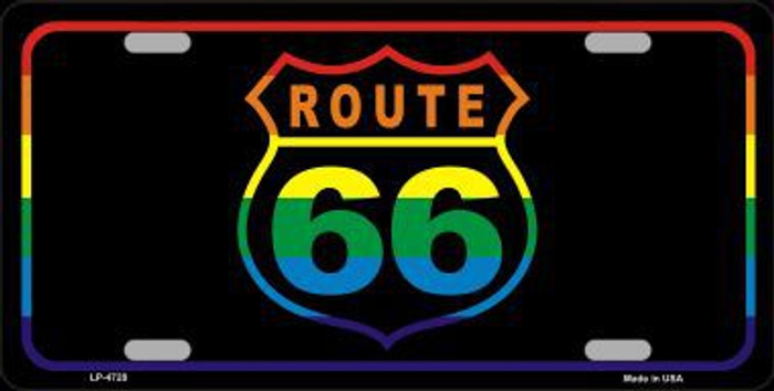 Route 66 Metal Novelty License Plate LP-4728