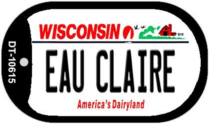 Eau Claire Wisconsin Novelty Metal Dog Tag Necklace DT-10615