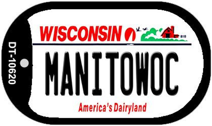 Manitowoc Wisconsin Novelty Metal Dog Tag Necklace DT-10620