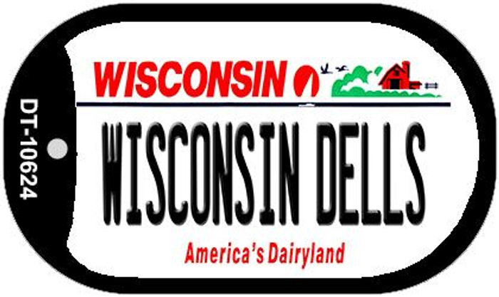 Wisconsin Dells Wisconsin Novelty Metal Dog Tag Necklace DT-10624