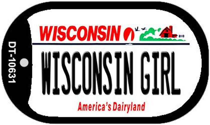 Wisconsin Girl Wisconsin Novelty Metal Dog Tag Necklace DT-10631