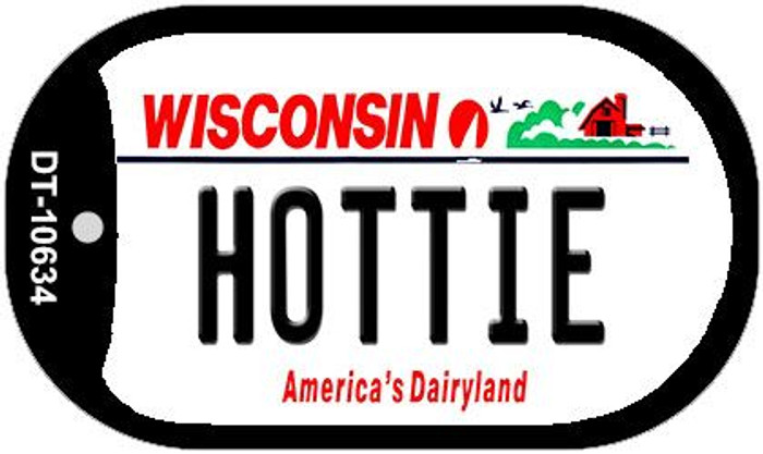Hottie Wisconsin Novelty Metal Dog Tag Necklace DT-10634