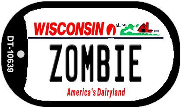 Zombie Wisconsin Novelty Metal Dog Tag Necklace DT-10639
