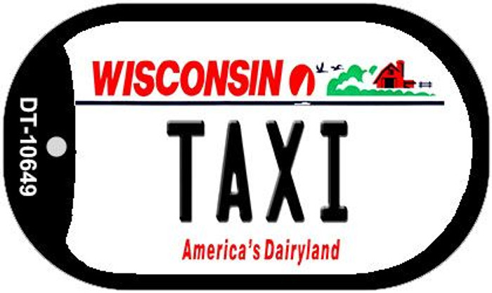 Taxi Wisconsin Novelty Metal Dog Tag Necklace DT-10649