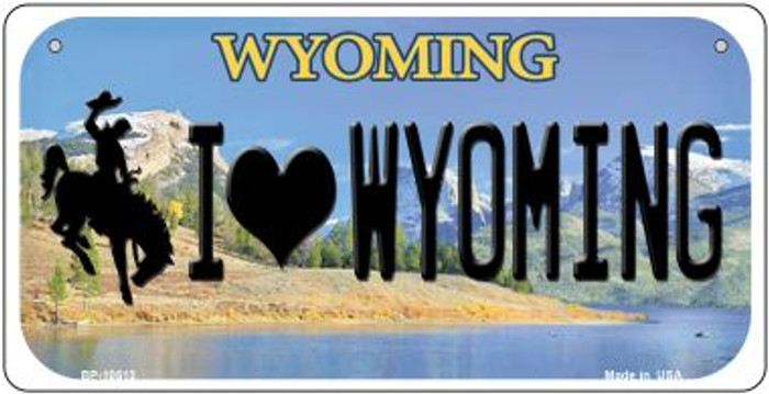 I Love Wyoming Novelty Metal Bicycle Plate BP-10513