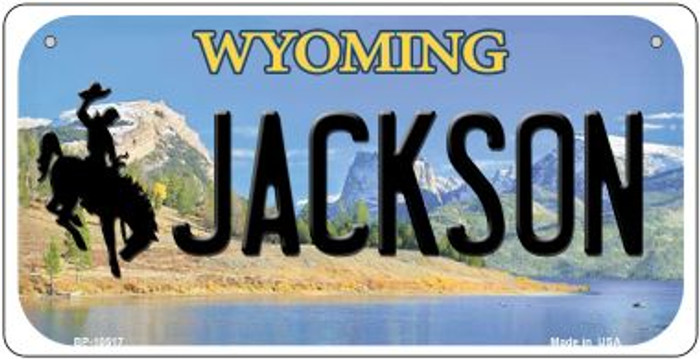 Jackson Wyoming Novelty Metal Bicycle Plate BP-10517