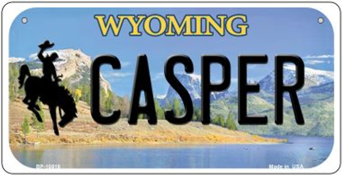Casper Wyoming Novelty Metal Bicycle Plate BP-10518