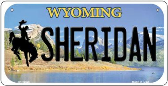 Sheridan Wyoming Novelty Metal Bicycle Plate BP-10520
