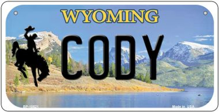 Cody Wyoming Novelty Metal Bicycle Plate BP-10521