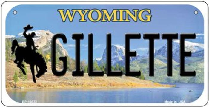 Gilletle Wyoming Novelty Metal Bicycle Plate BP-10522