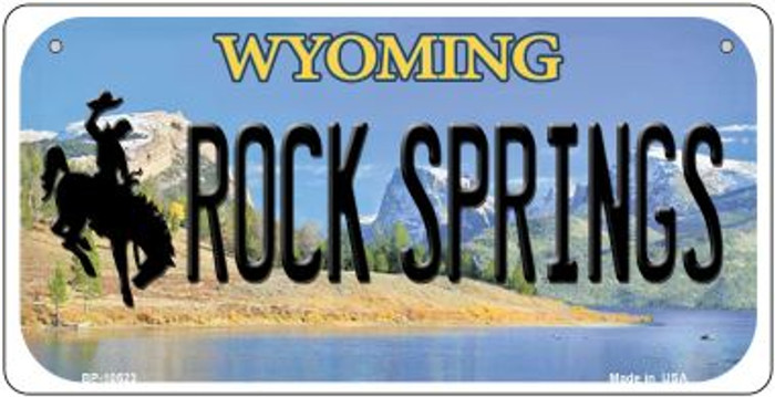 Rock Spring Wyoming Novelty Metal Bicycle Plate BP-10523