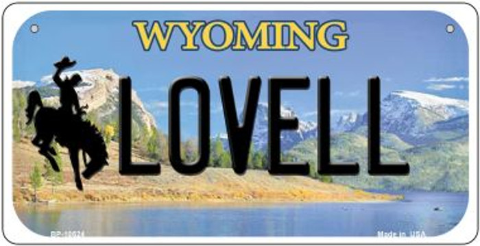 Lovell Wyoming Novelty Metal Bicycle Plate BP-10524